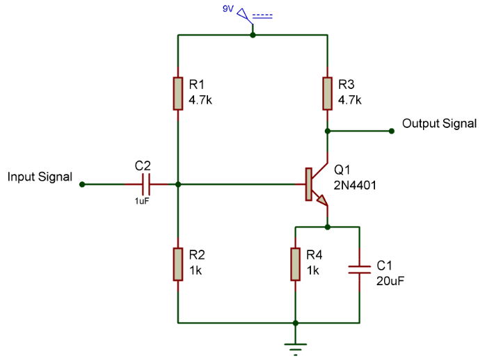 2N4401 amplifier circuit