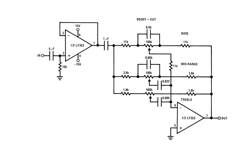 LF353N circuit and applications
