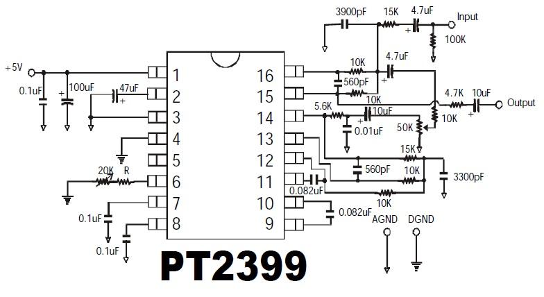 SET OF 2 x PT2399 EFFECT PEDAL DELAY ECHO PROCESSOR IC DIY GUITAR EFFECTS