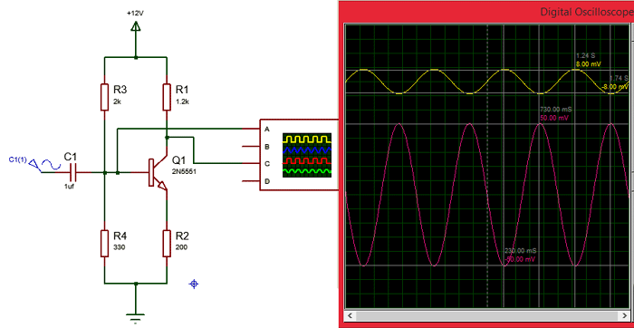 2N5551-NPN-Amplifier-Transistor-Circuit