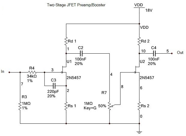 2n5457 pinout and circuit diagram - n-channel jfet - hqew.net  hqew.net