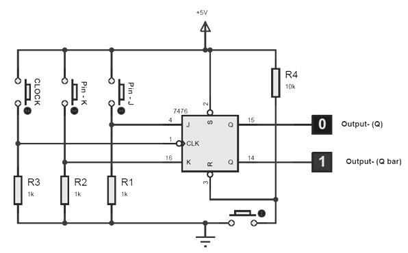 7476 pinout and circuit diagram dual j k flip flops hqew net Simple Circuit