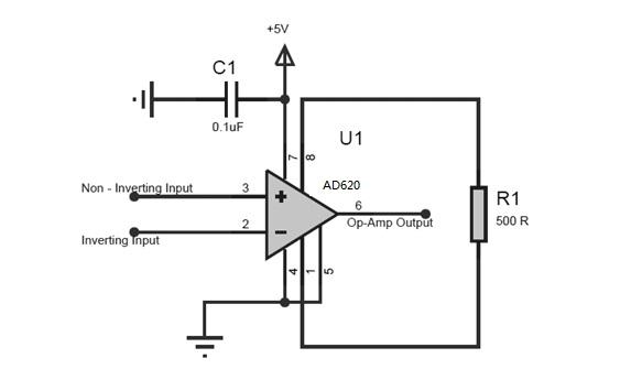 AD620 circuit
